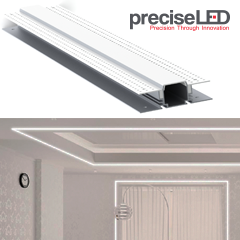 Digital Filaments: PreciseLED's Zenlite LED drywall lighting, e-litestar's PT1 post top fixture, and GE's Evolve™ area light